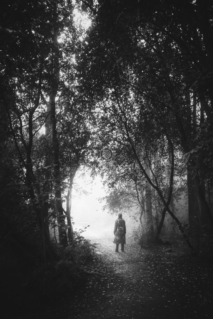 """Walk Through Rain IV (Hope)"" stock image"