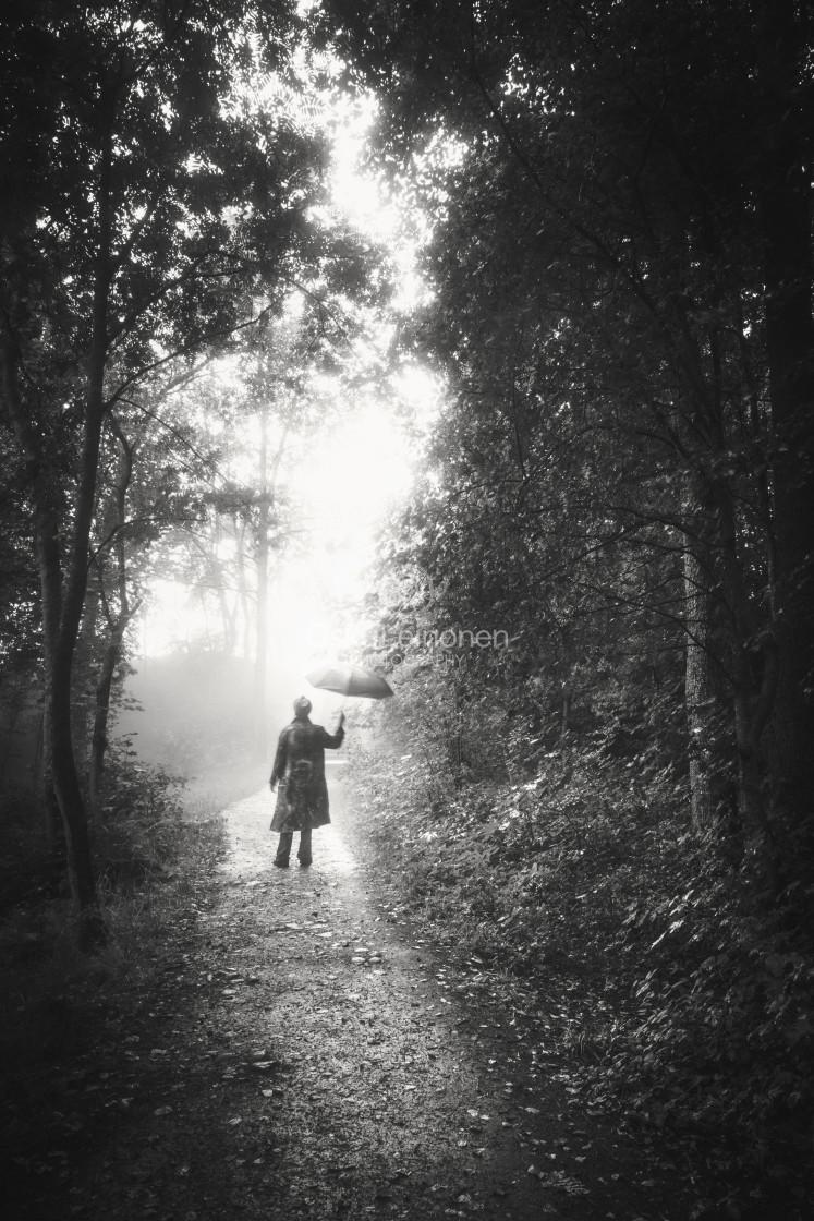 """Walk Through Rain VII (Home)"" stock image"