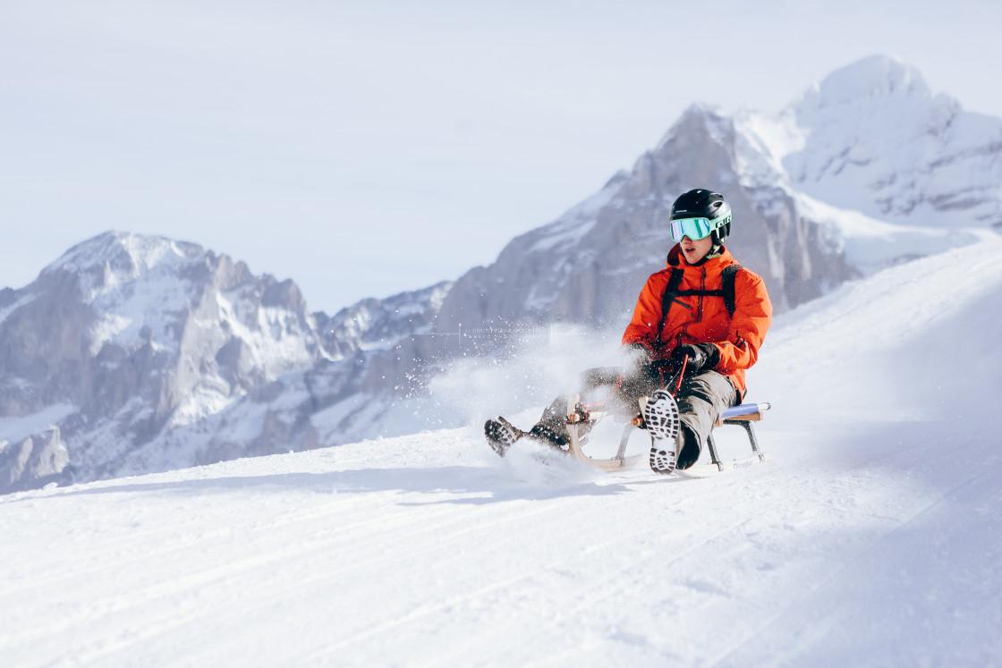 """Jungfrau Ski Region, Grindelwald, Switzerland"" stock image"