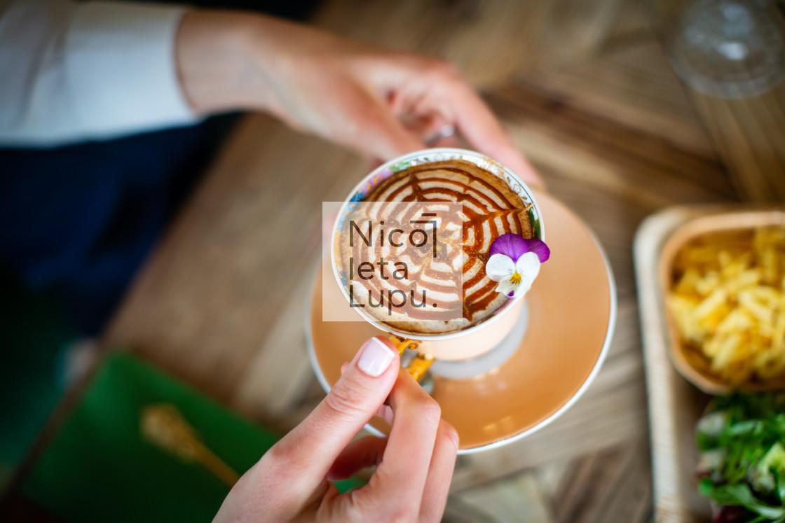 """""""artistic coffe cappuccino"""" stock image"""