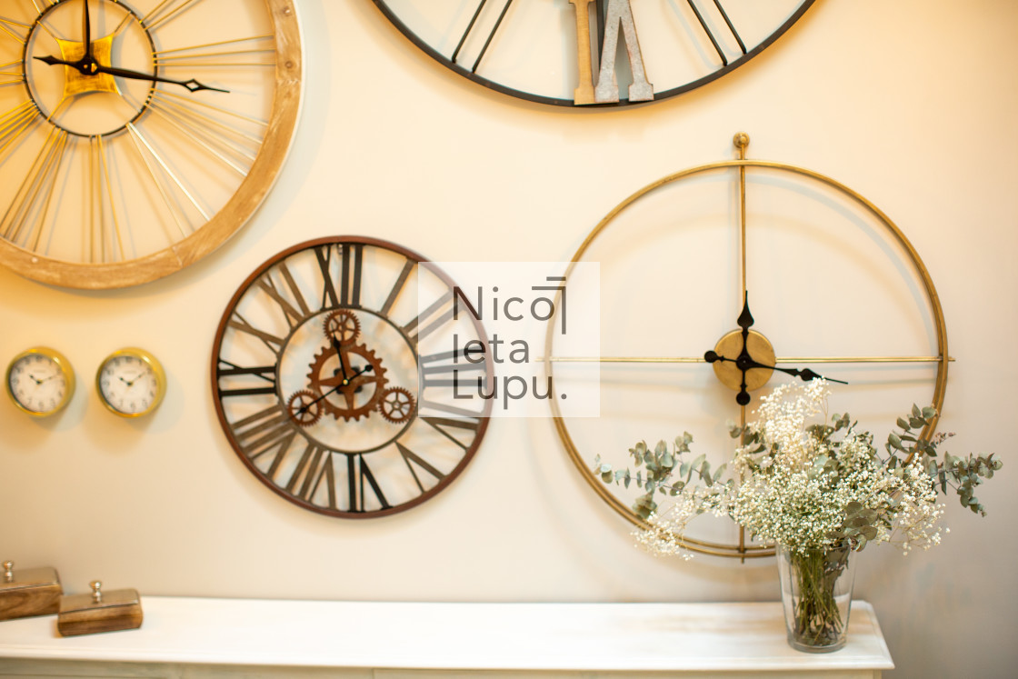"""wall clock decoration"" stock image"