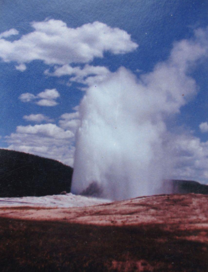 """Yellowstone Park geyser"" stock image"