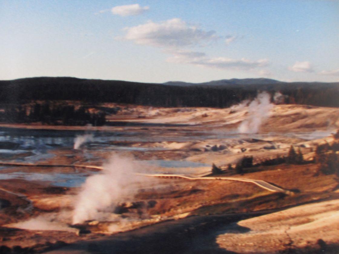"""Yellowstone Park pools"" stock image"