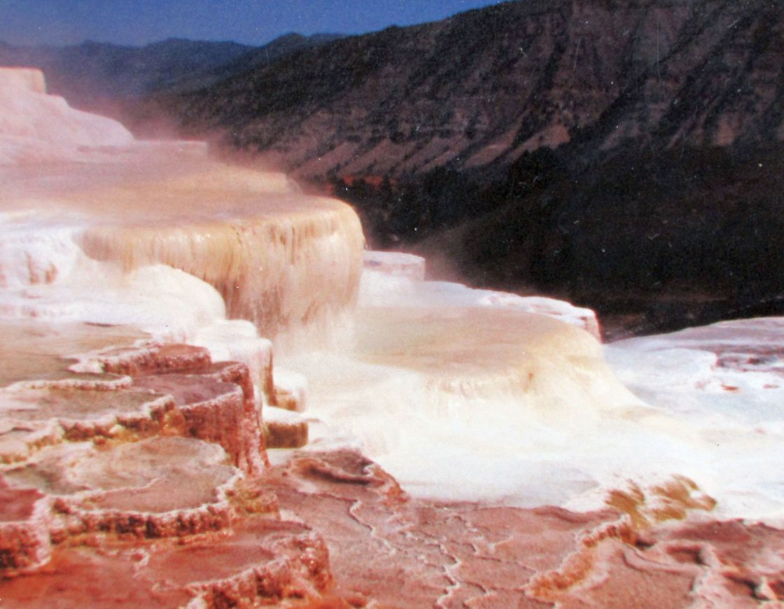 """""""Caldrons in Yellowstone Park"""" stock image"""