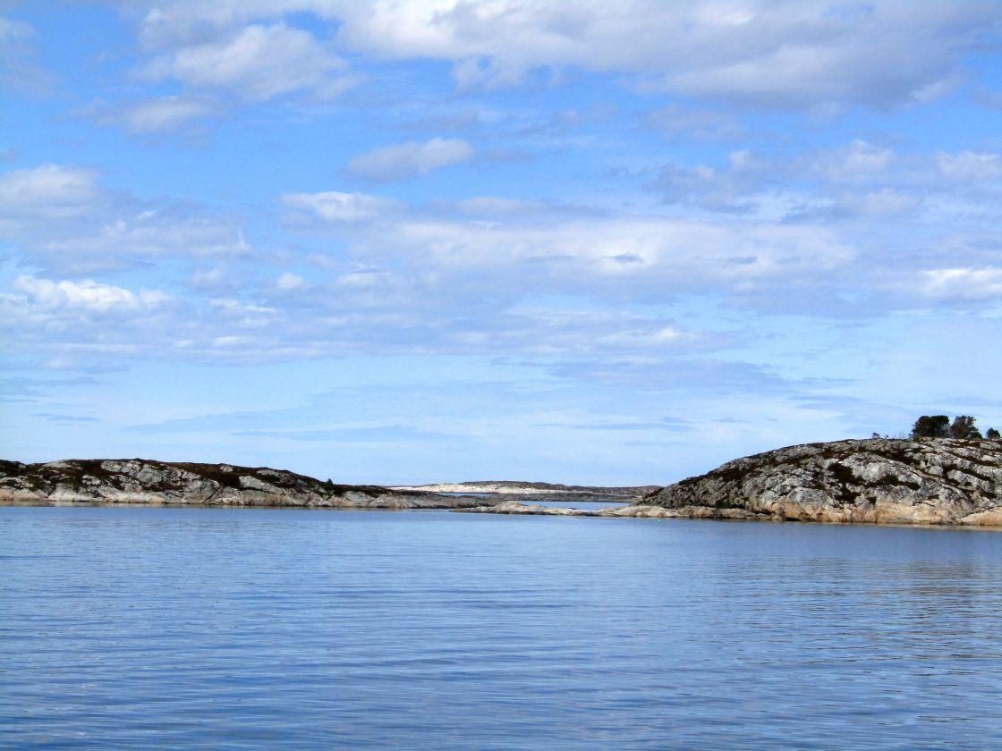 """Islands off coast of Froya, Norway"" stock image"