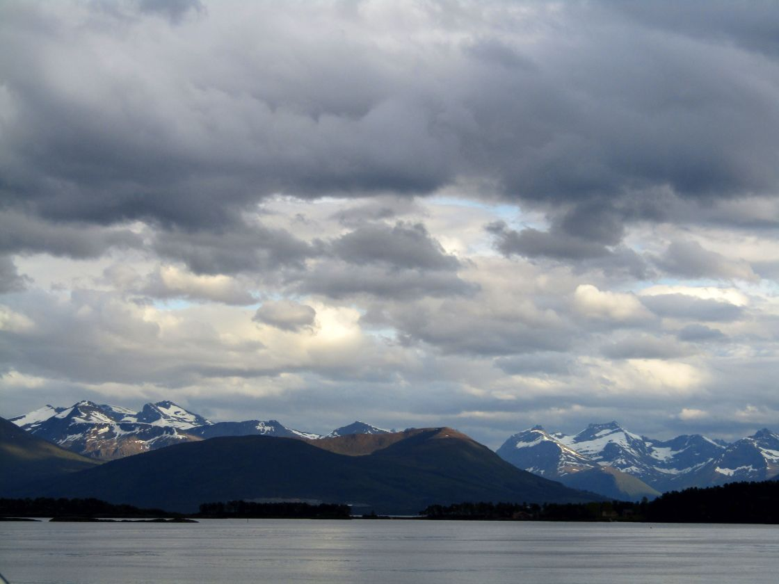 """Romsdal, Norway mountain & fjord views"" stock image"