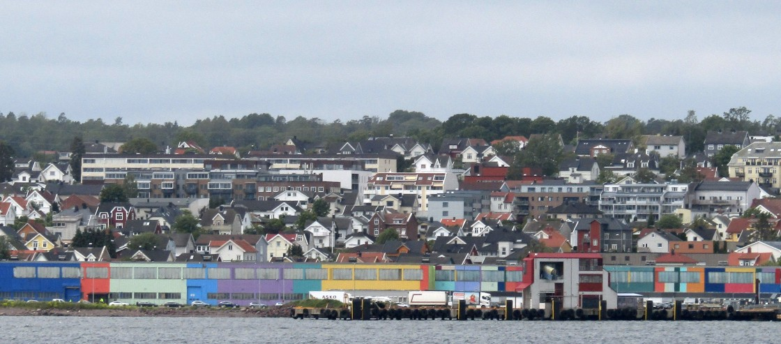 """""""Horten, Norway harbour"""" stock image"""