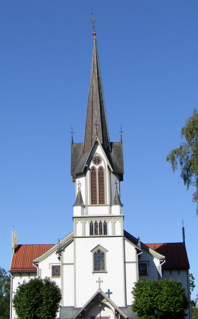 """St Olav church, Bamble, Norway"" stock image"