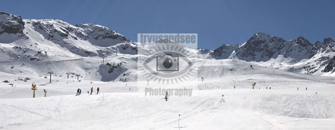 """Andorra ski slopes"" stock image"