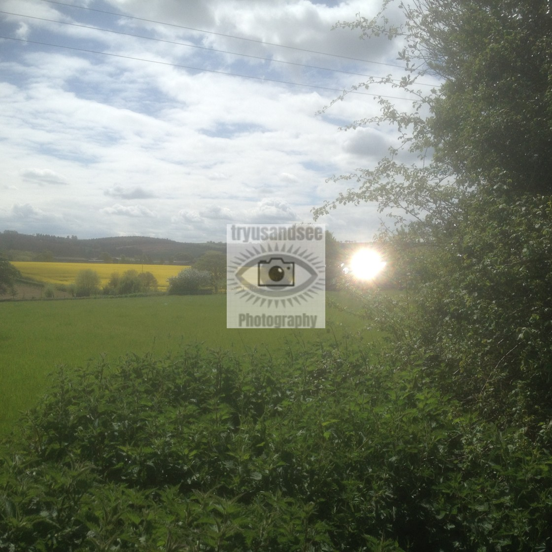 """UFO or reflected light in Oxfordshire?"" stock image"