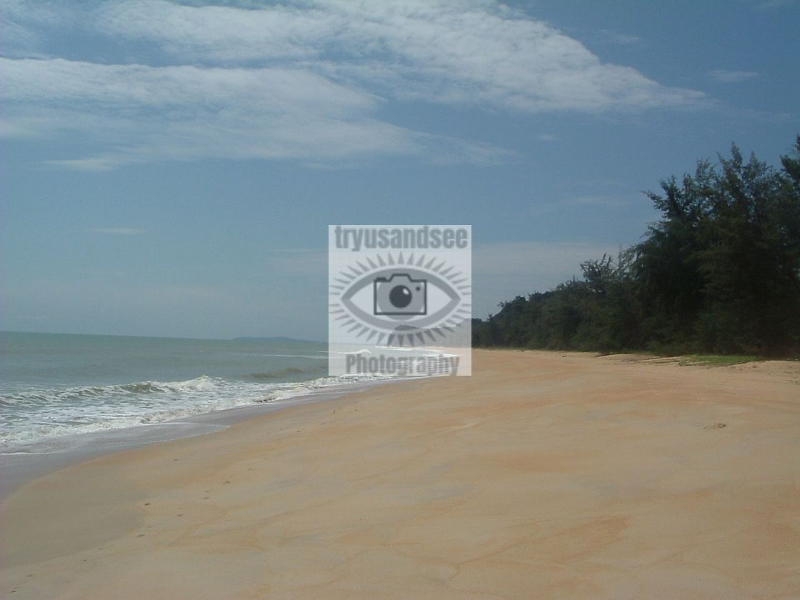 """Deserted Malaysian beach"" stock image"