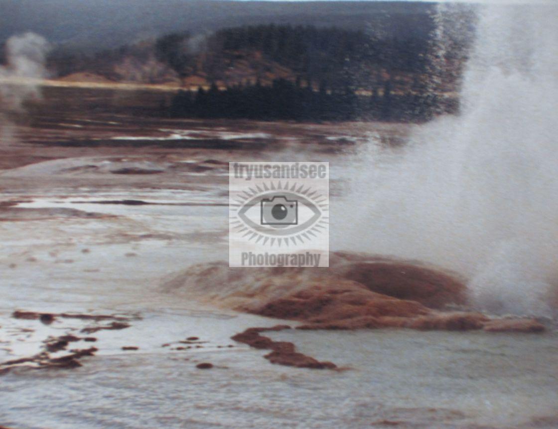 """Yellowstone Park hot pools"" stock image"