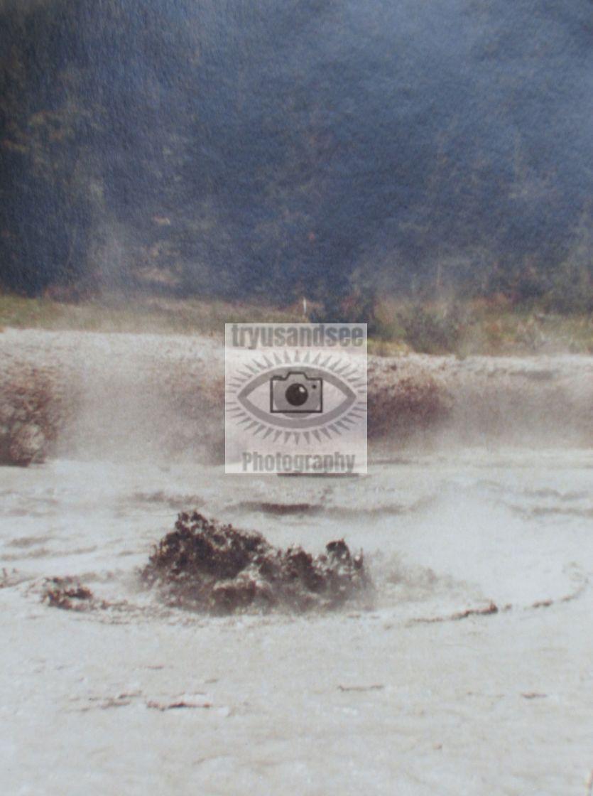 """Yellowstone Park mud pools"" stock image"