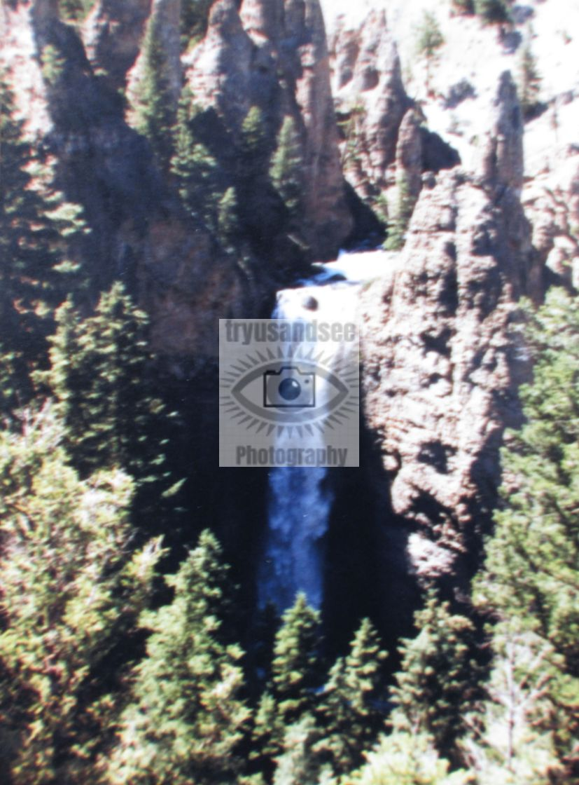 """Yellowstone Park waterfall"" stock image"