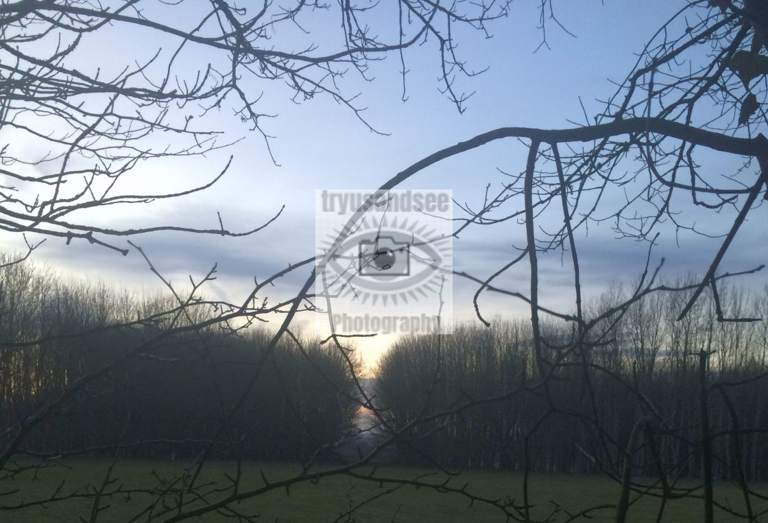 """""""Sherborne, Gloucestershire sunset"""" stock image"""