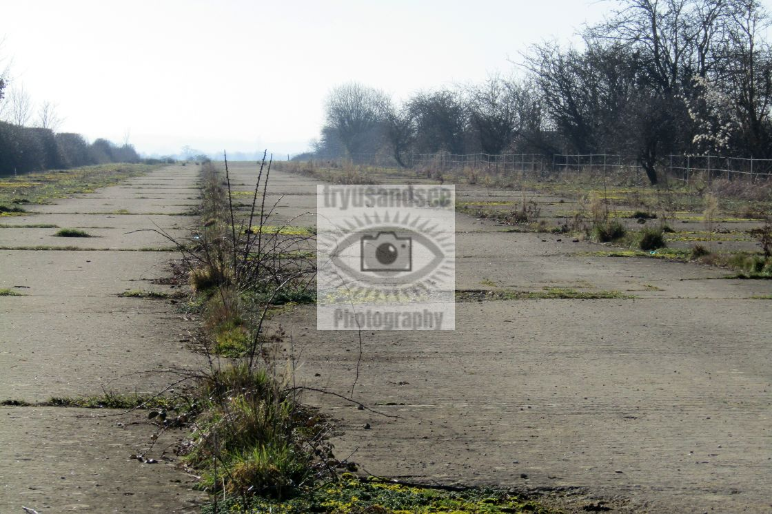 """Disused runway at RAF Broadwell"" stock image"