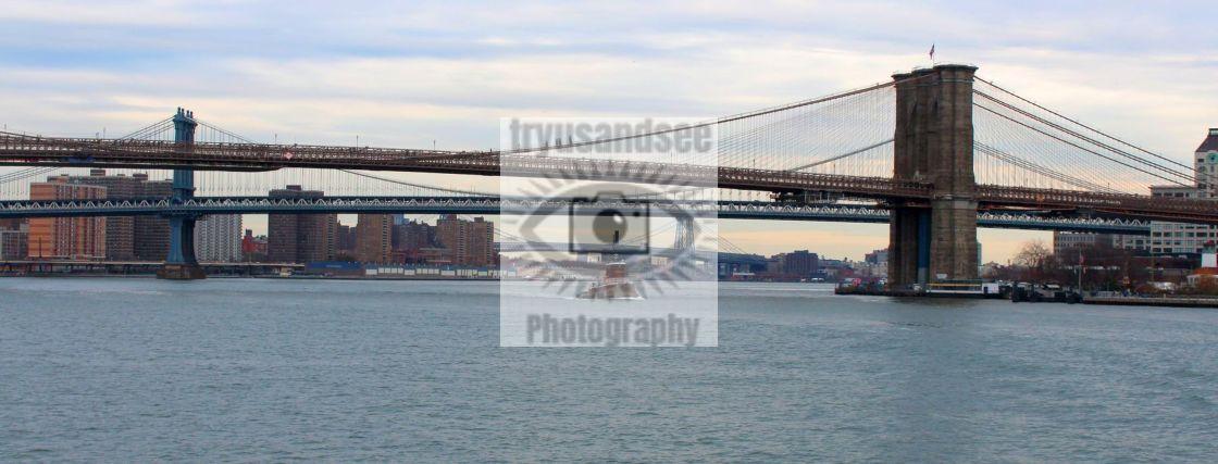 """Bridges in New York"" stock image"
