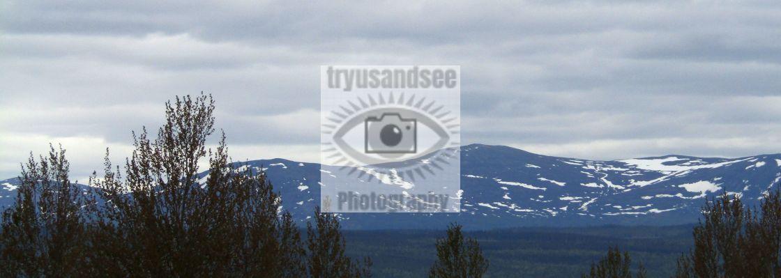 """Mountain snow in Mattmar, Sweden"" stock image"