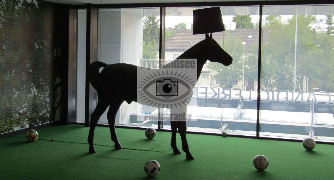 """""""Horse floor lamp in Trondheim"""" stock image"""