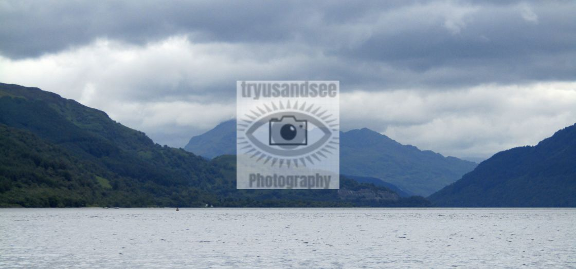 """Loch Lomond mountain views"" stock image"