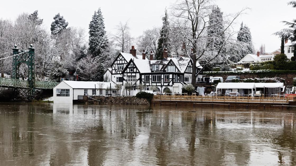 """""""The Boathouse, Shrewsbury"""" stock image"""