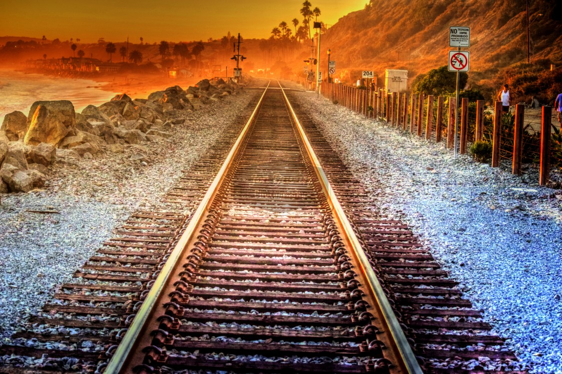 """Railroad Tracks"" stock image"