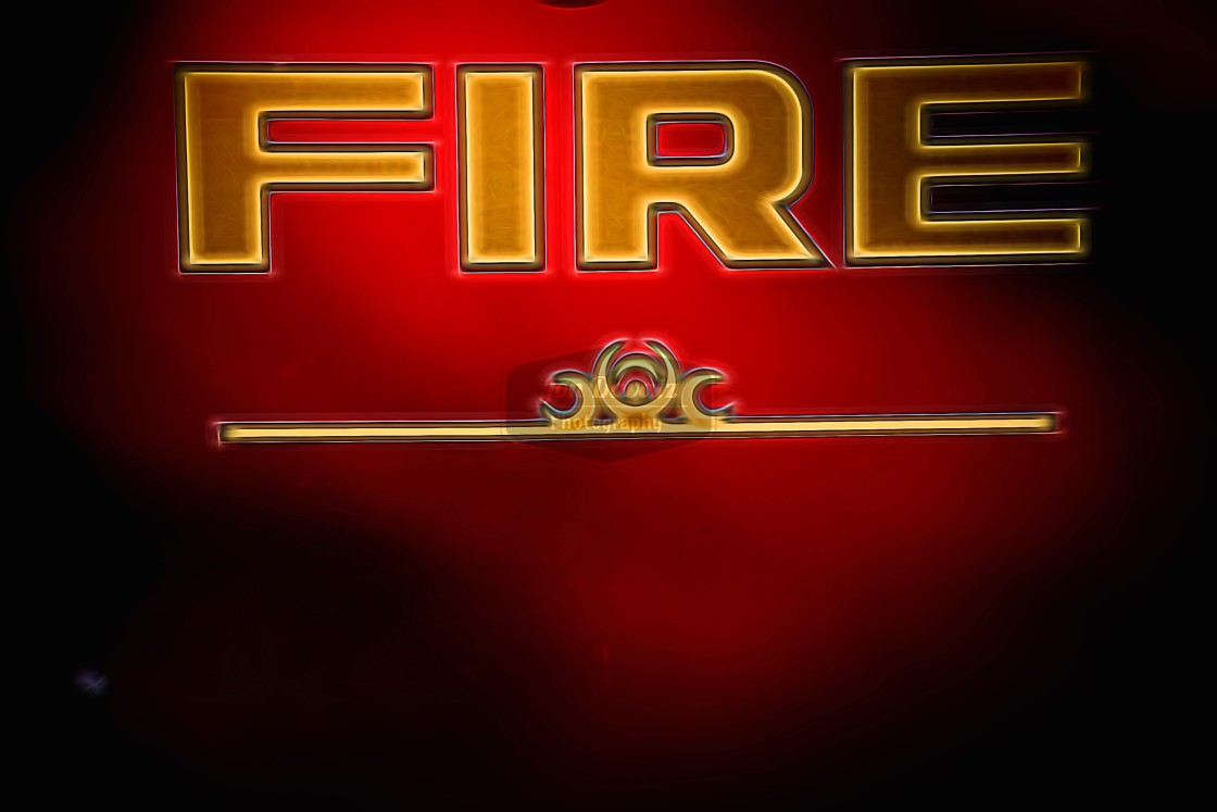 """Fire Department Sign"" stock image"