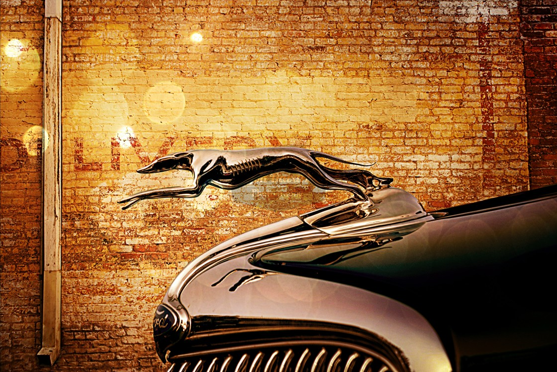 """""""Ford Hood Ornament"""" stock image"""