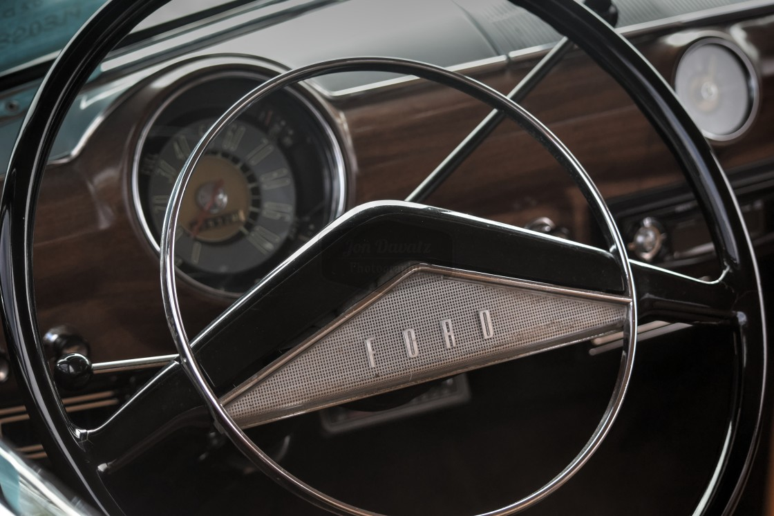 """Ford Steering Wheel"" stock image"