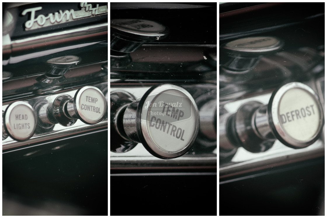 """Vintage Car Knobs"" stock image"