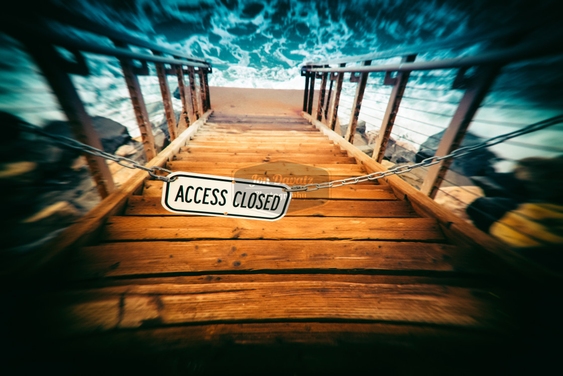 """Access closed"" stock image"