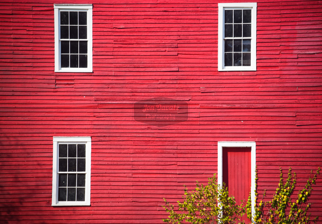 """Starr's Mill - Windows and door"" stock image"
