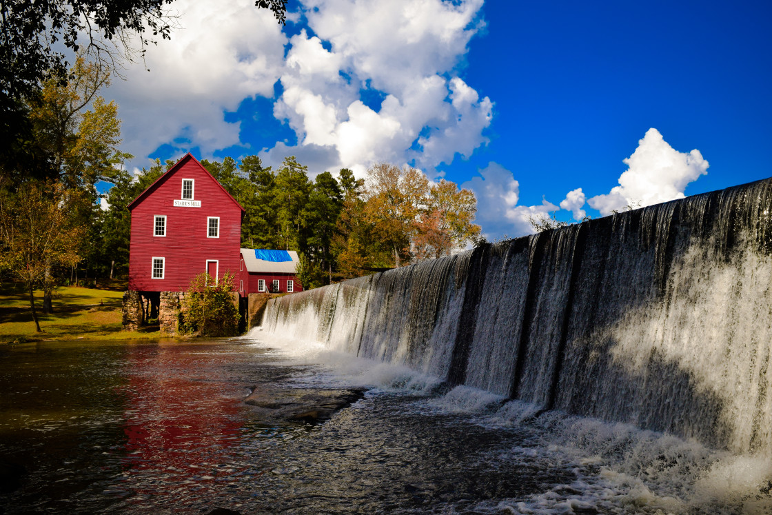 """""""Starr's Mill Waterfall"""" stock image"""