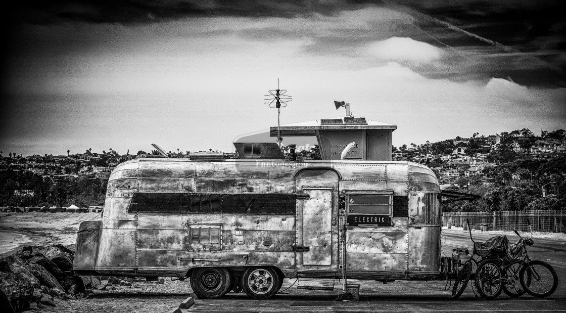 """Vintage Airstream Trailer"" stock image"