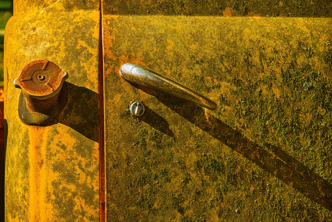 """Old Car Door"" stock image"