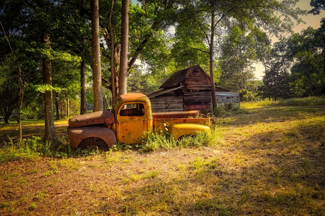 """That Yellow Truck...."" stock image"