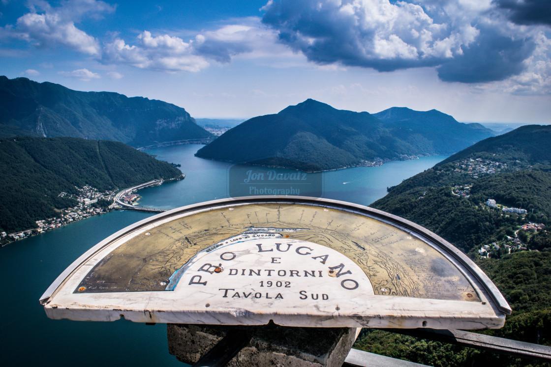 """""""Lago di Lugano"""" stock image"""