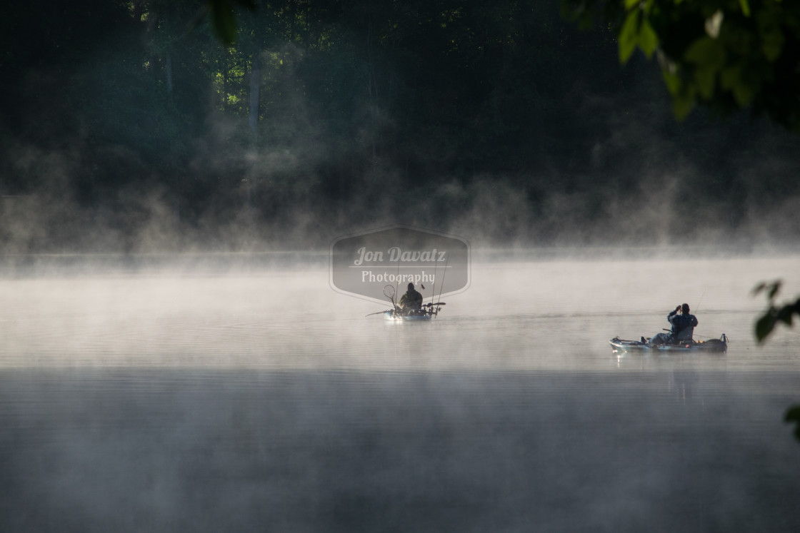 """two fishermen in the morning"" stock image"