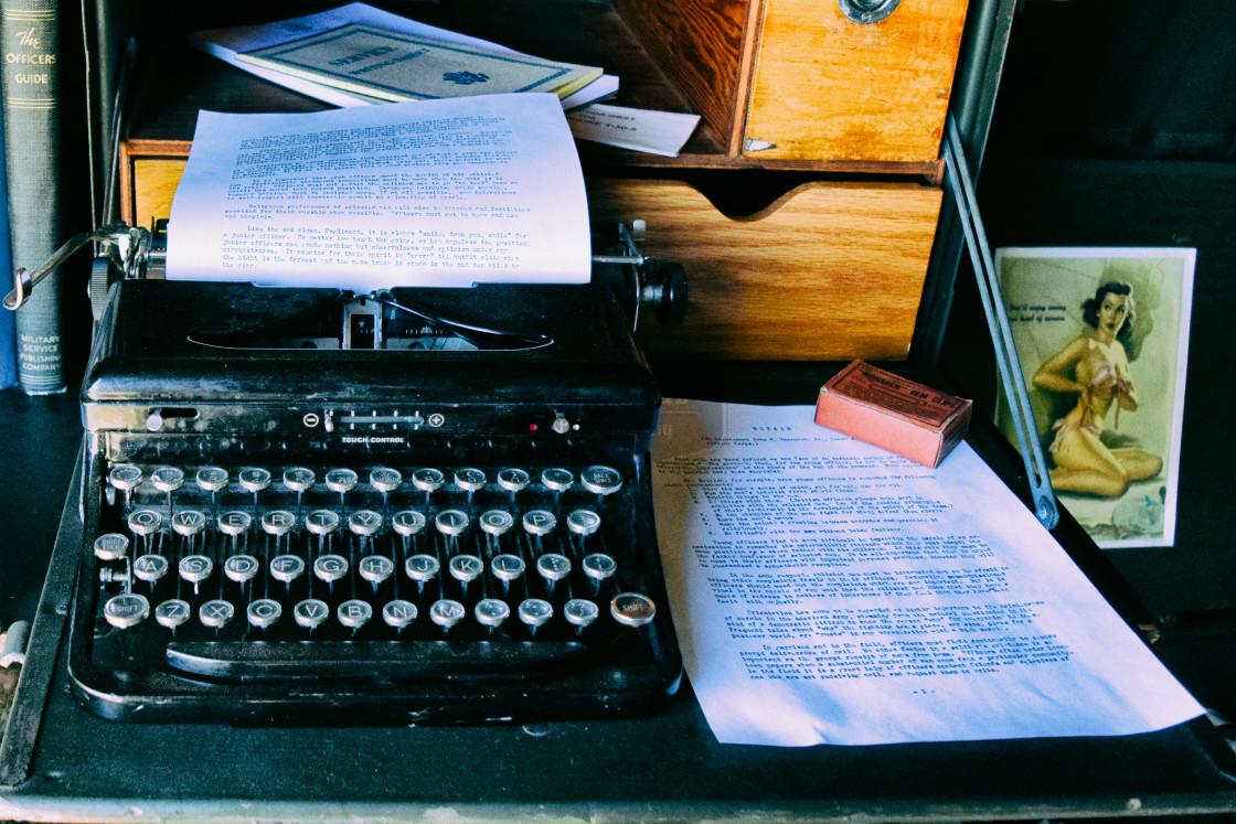 """An Old Fashioned Typewriter"" stock image"