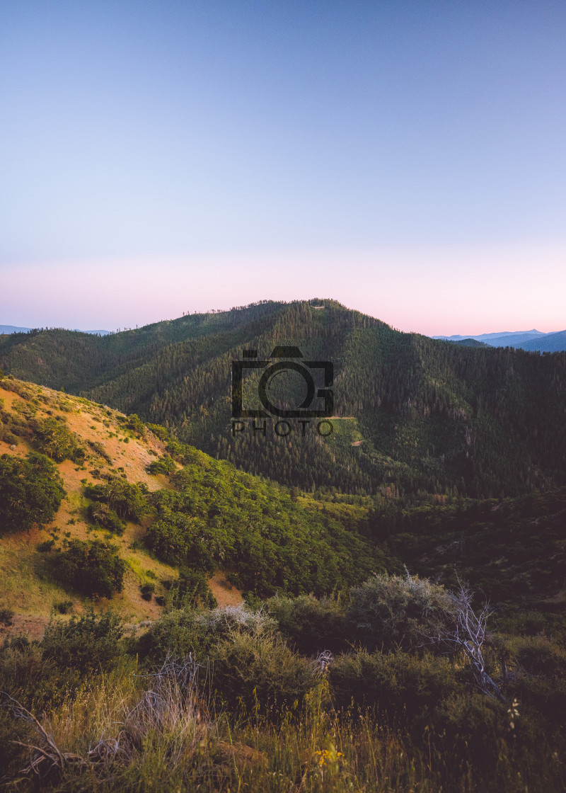 """Oregon Sunset Hike"" stock image"