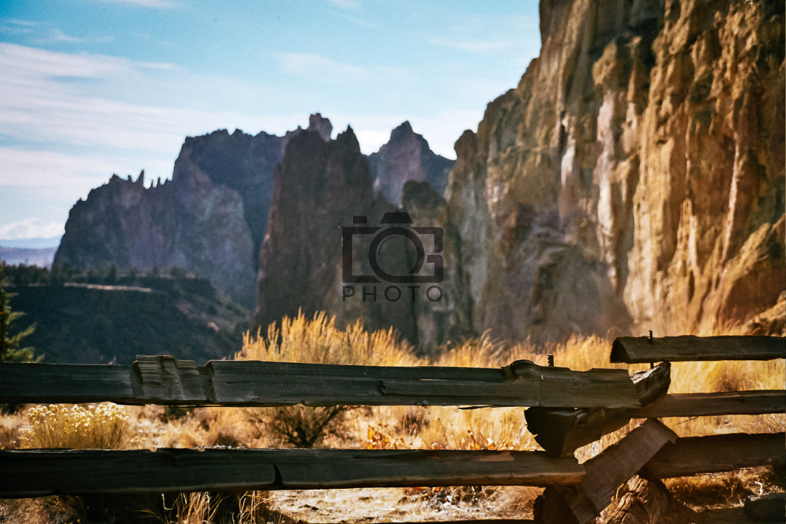 """Smith Rock Approach"" stock image"