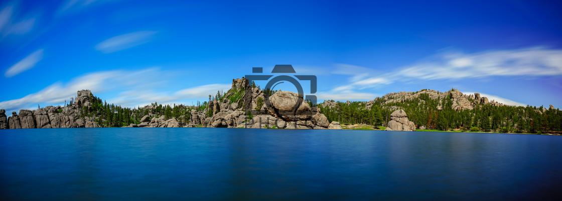 """""""Sylvan Lake in South Dakota"""" stock image"""