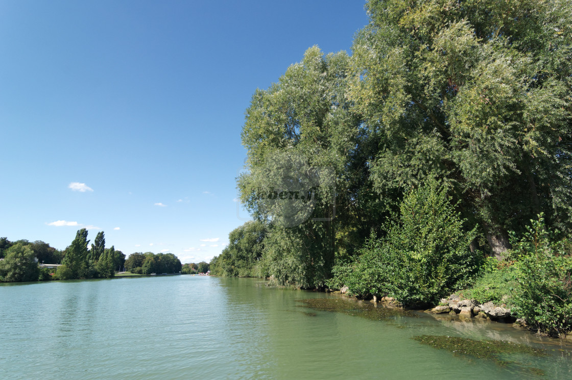 """Marne river bank"" stock image"