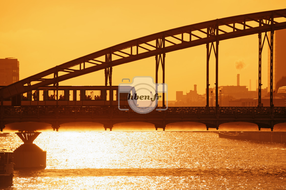 """Golden light on Austerlitz viaduct"" stock image"