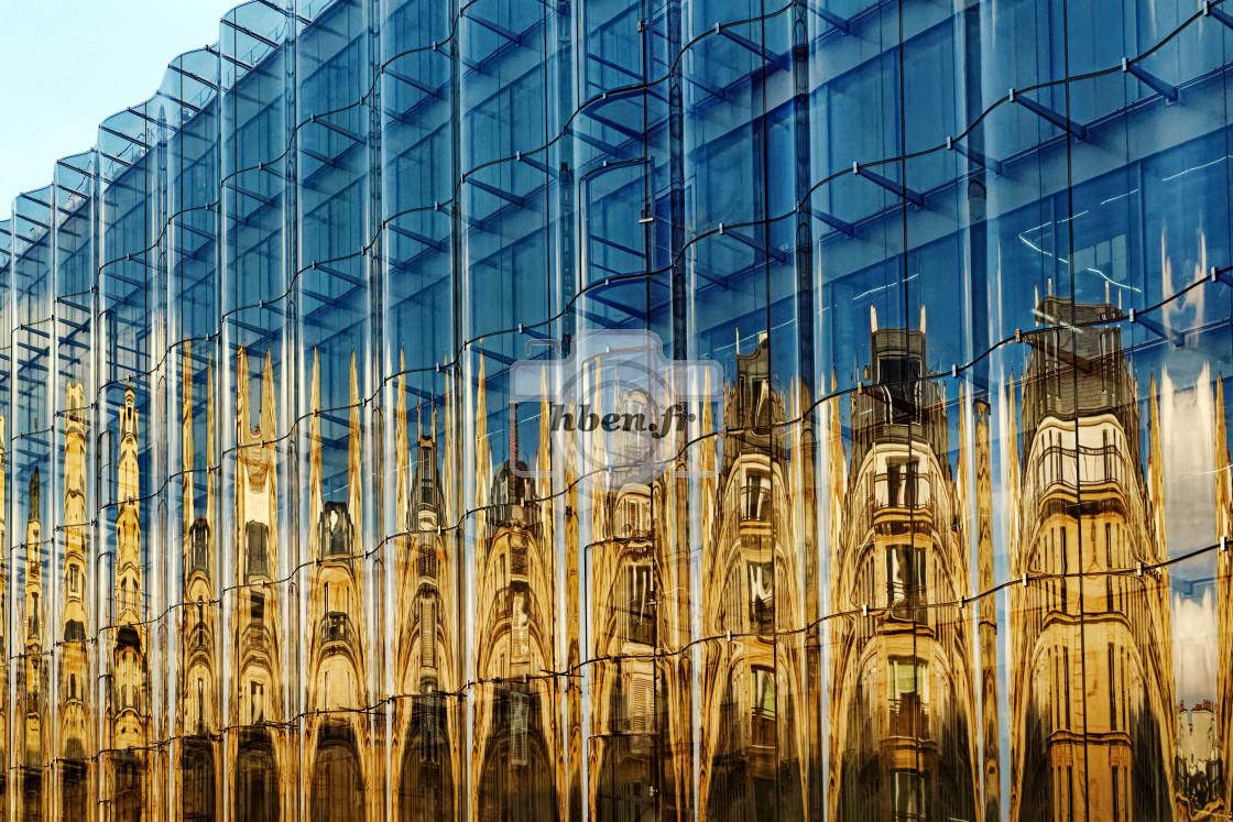 """Reflection on Rivoli street"" stock image"