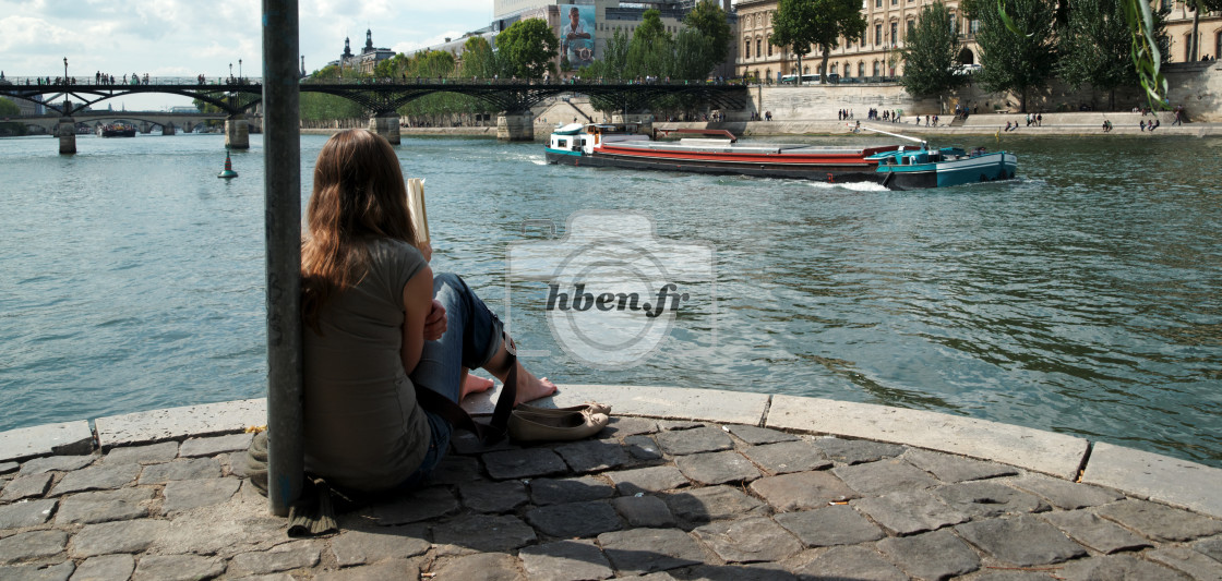 """Summertime in Paris"" stock image"