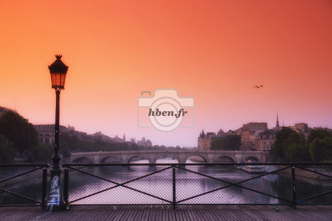 """Early morning in Paris"" stock image"