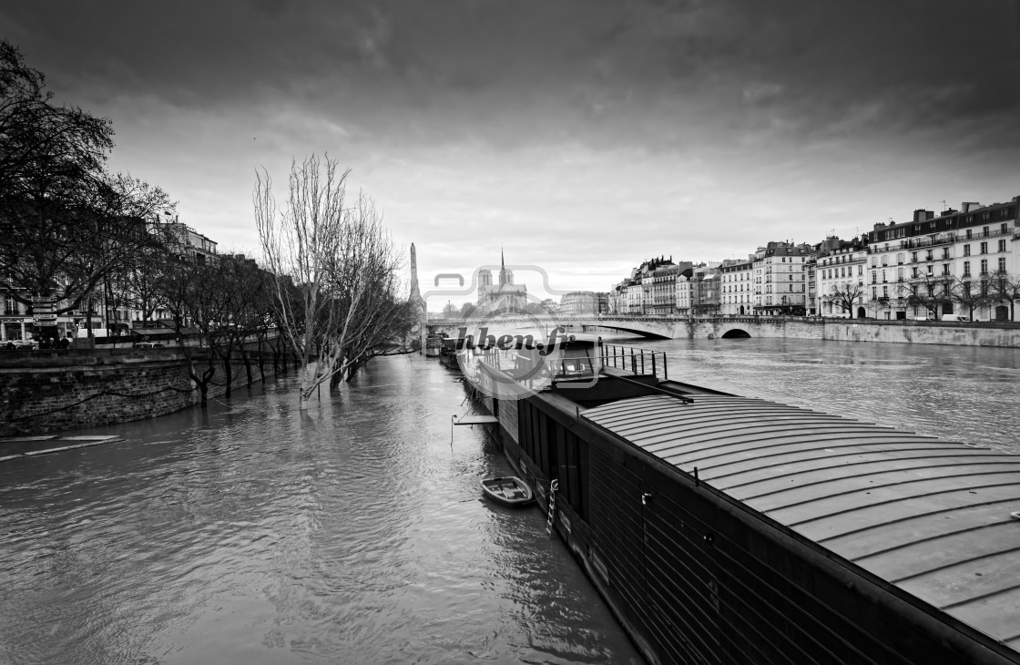 """Seine river flood"" stock image"