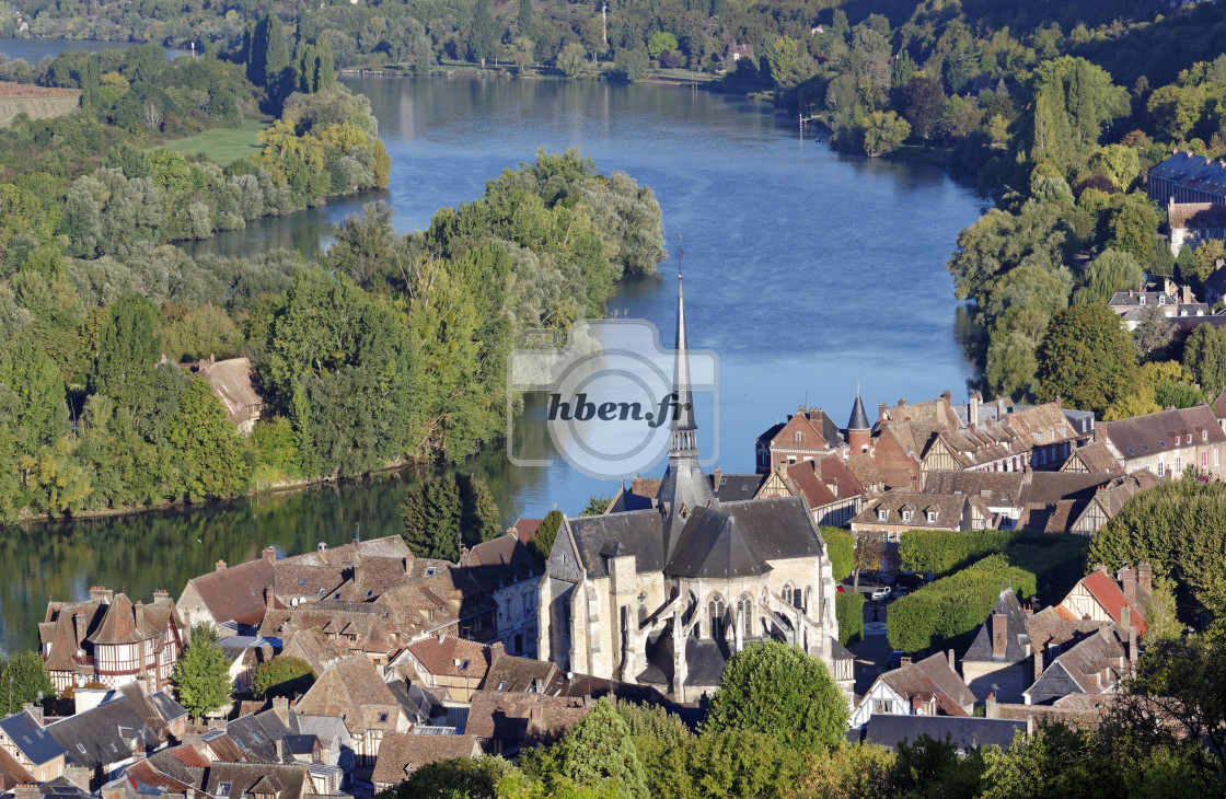 """""""Les Andelys church"""" stock image"""