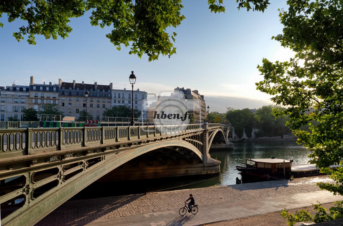 """Paris by bike"" stock image"